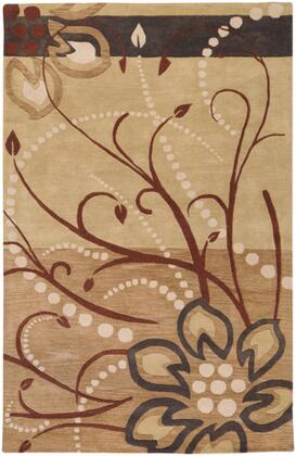 Athena Collection ATH5006-1215 Rectangle 12' x 15' Area Rug  Hand Tufted with Wool Material in Brown and Neutral