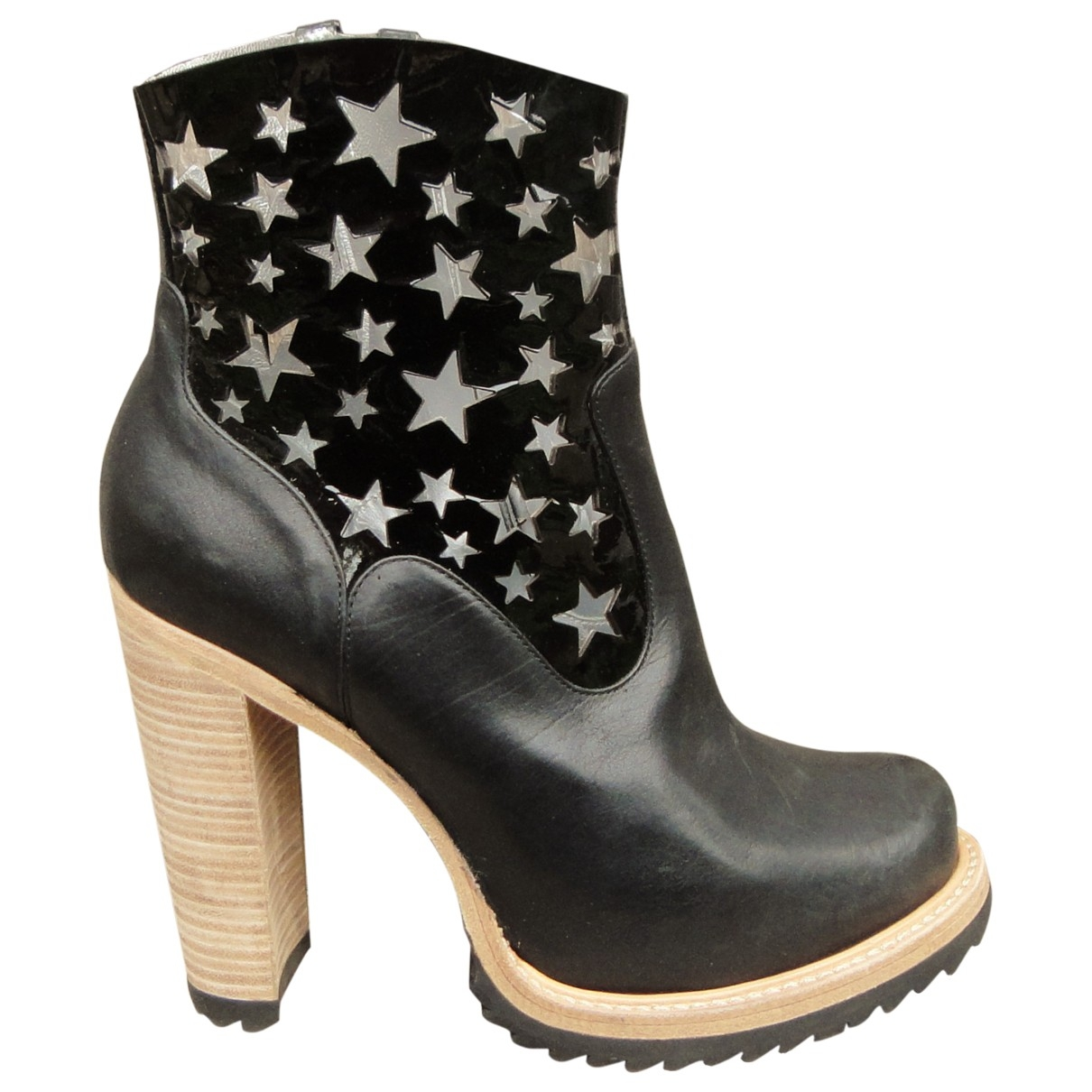 Free Lance \N Black Leather Ankle boots for Women 40 EU