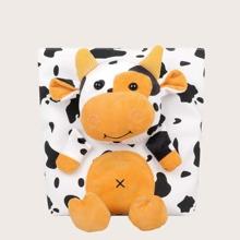 Girls Cow Pattern Crossbody Bag