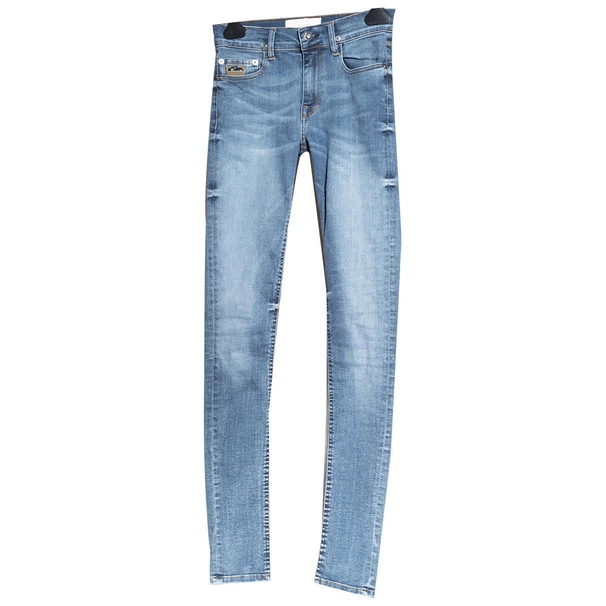 April 77 \N Blue Cotton - elasthane Jeans for Women 24 US