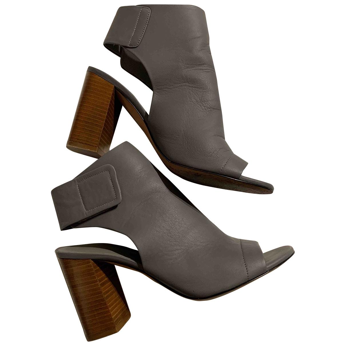 Vince - Boots   pour femme en cuir - gris