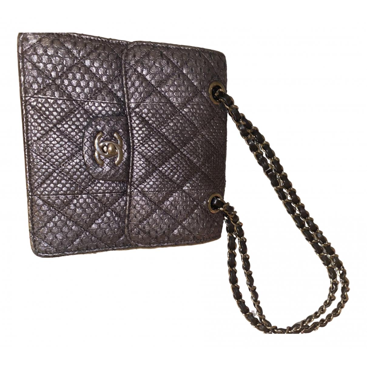 Chanel \N Grey Python handbag for Women \N