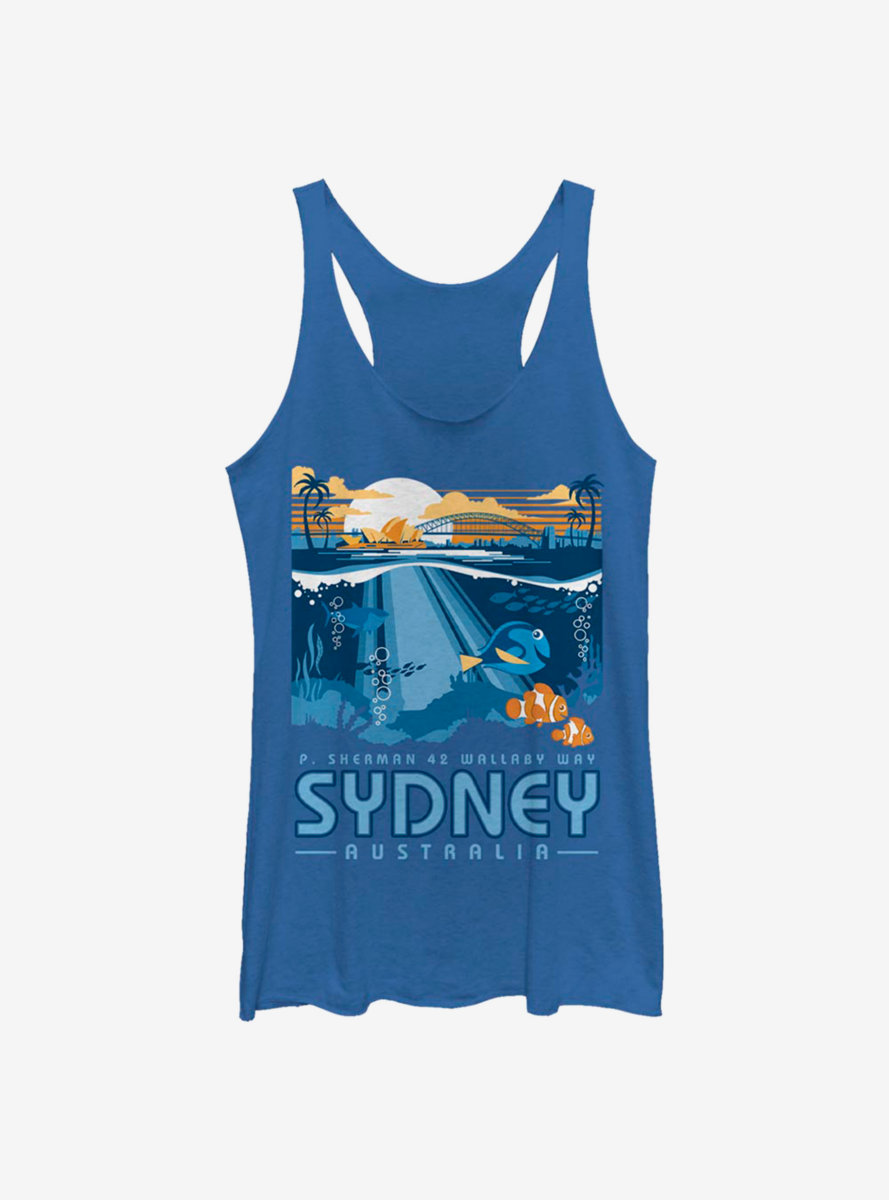 Disney Pixar Finding Nemo Wallaby Way Sydney Womens Tank Top