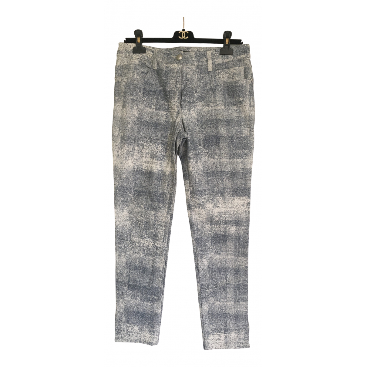 Chanel N Blue Cotton Trousers for Women 40 FR