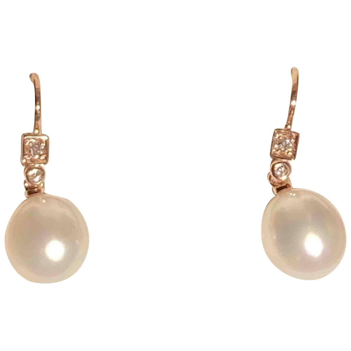 - Boucles doreilles   pour femme en perle - blanc
