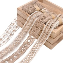 1pc DIY Linen Lace Fabric Decoration