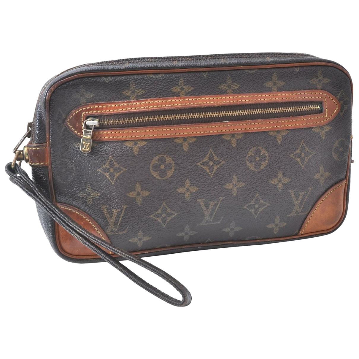 Louis Vuitton - Pochette Marly Dragonne  pour femme en toile - marron