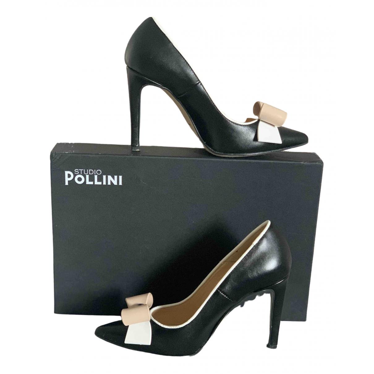 Pollini \N Pumps in  Schwarz Leder
