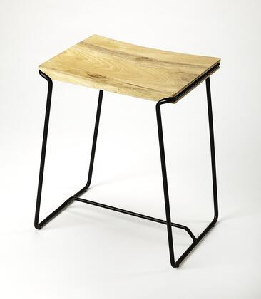 Parrish Collection 4272295 Counter Stool with Transitional Style  Rectangular Shape and Mango Wood Solids in Black