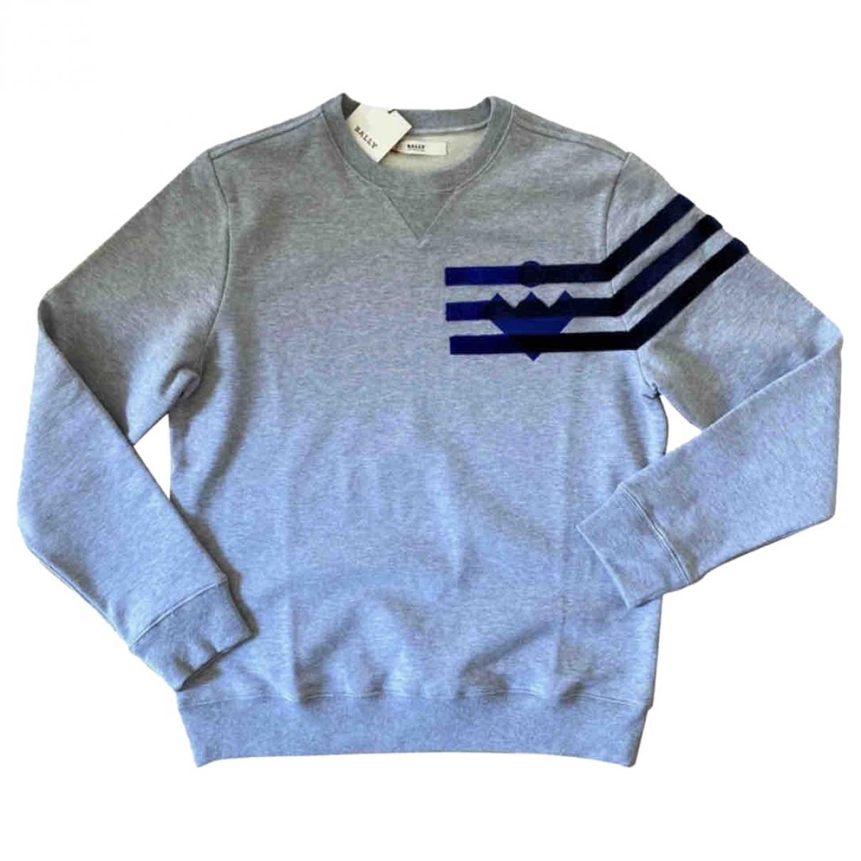 Bally \N Pullover.Westen.Sweatshirts  in  Grau Baumwolle