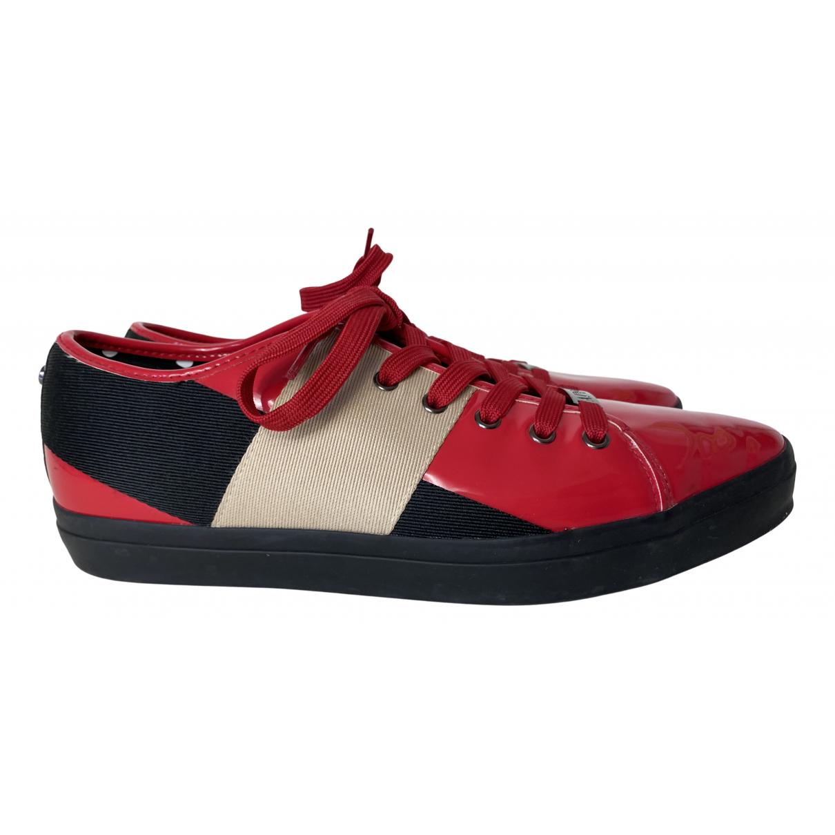Armani Jean - Baskets   pour femme en toile - rouge