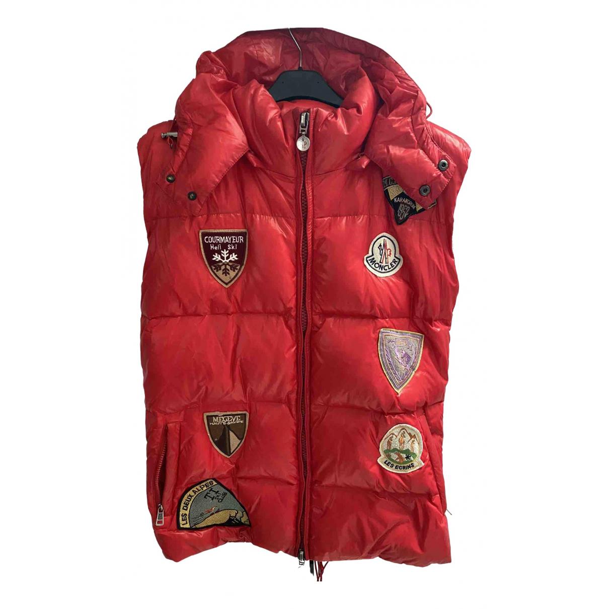 Moncler - Manteau Sleeveless pour homme - rouge