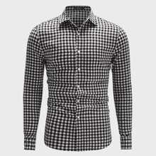Camisa de hombres con estampado de guingan