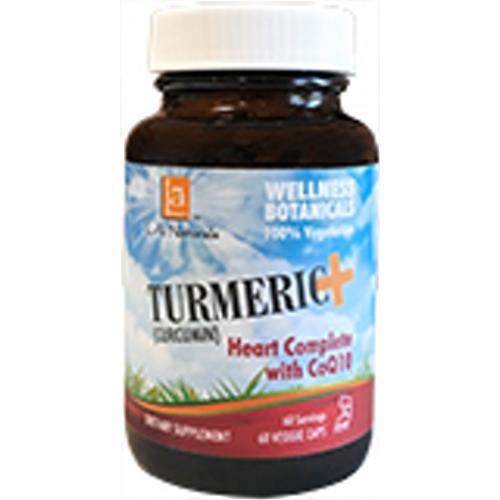 Turmeric+ Heart Complete w/ CoQ10 60 Veg Caps by L. A .Naturals