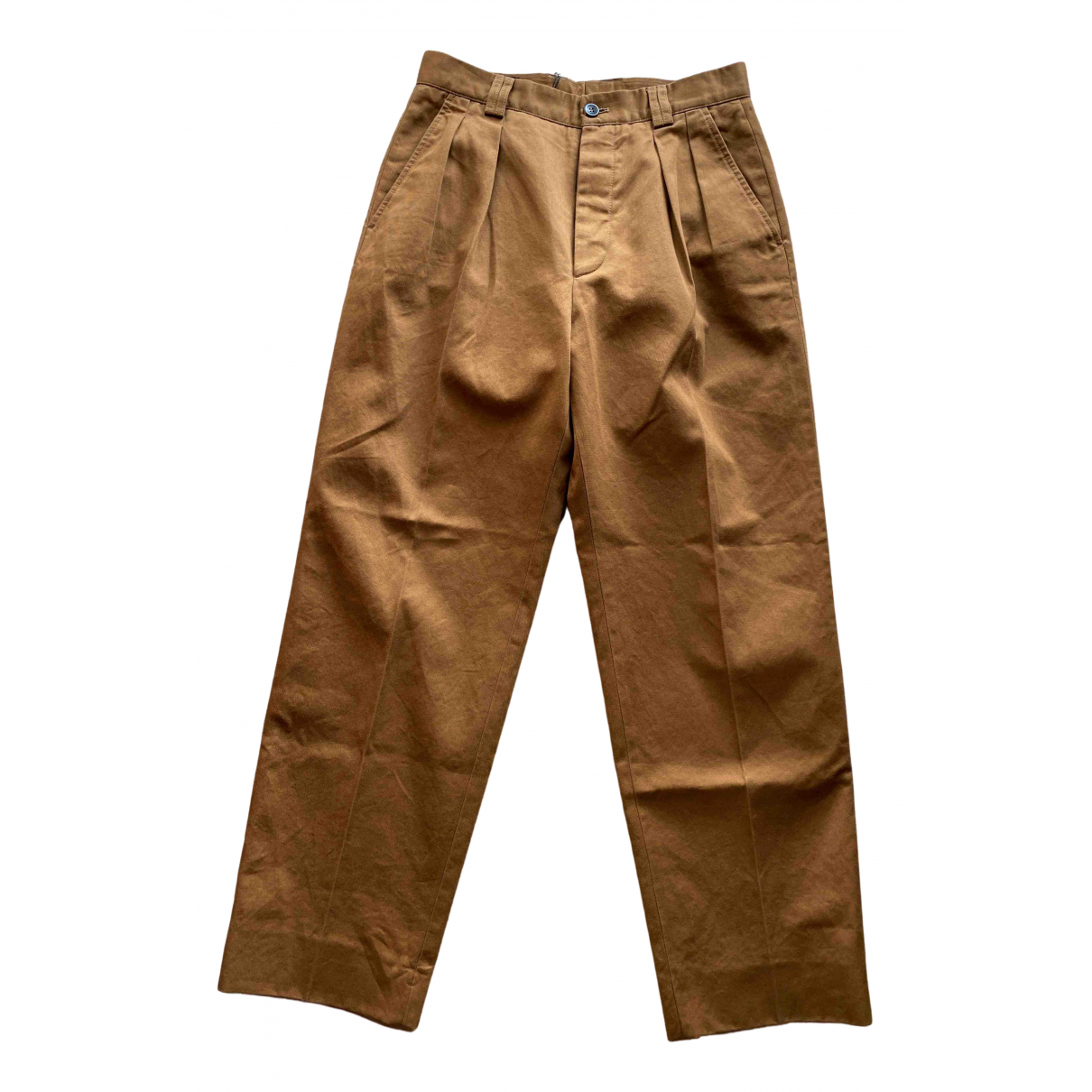Pantalones en Algodon Marron Gucci