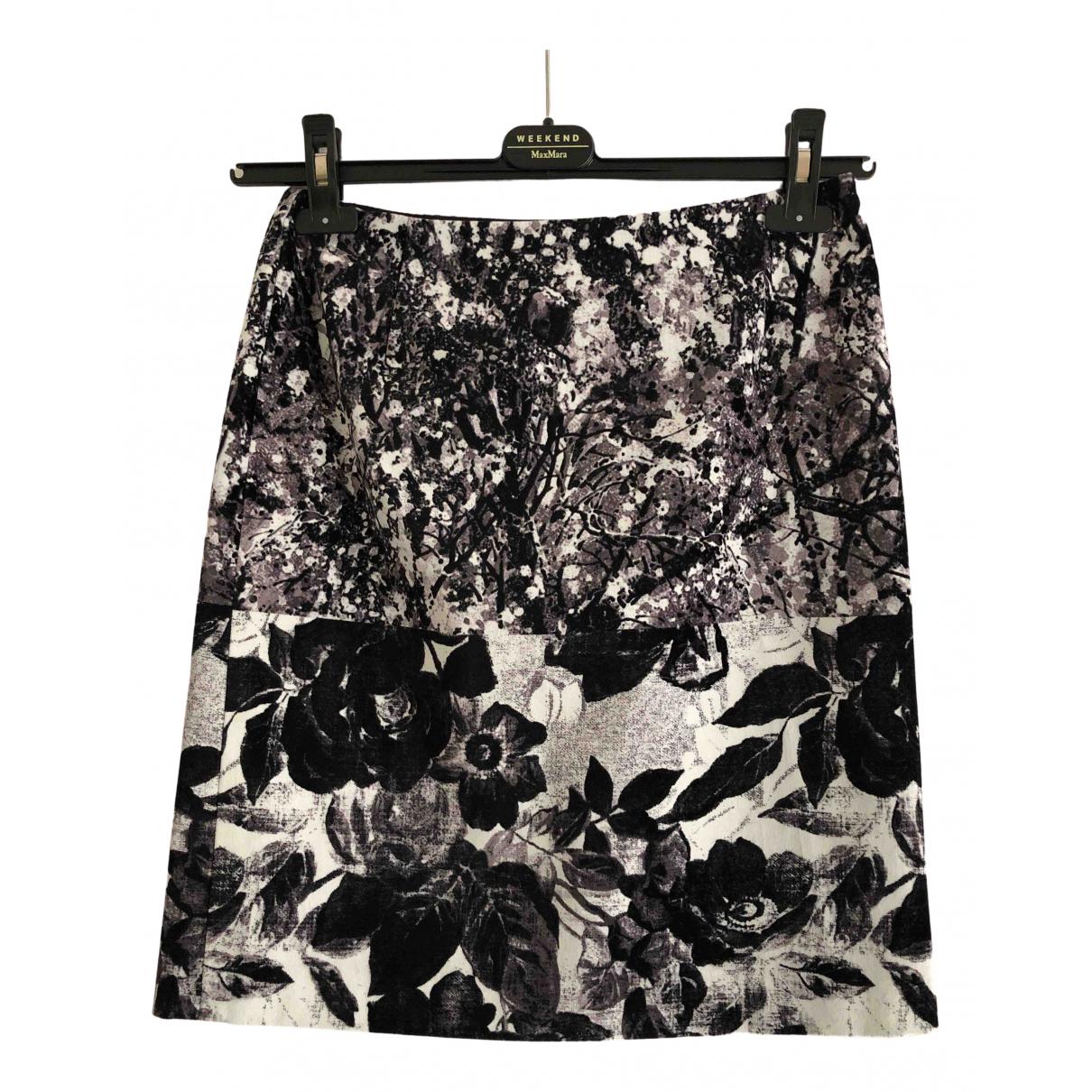 Max Mara Weekend N Black Cotton skirt for Women 6 UK