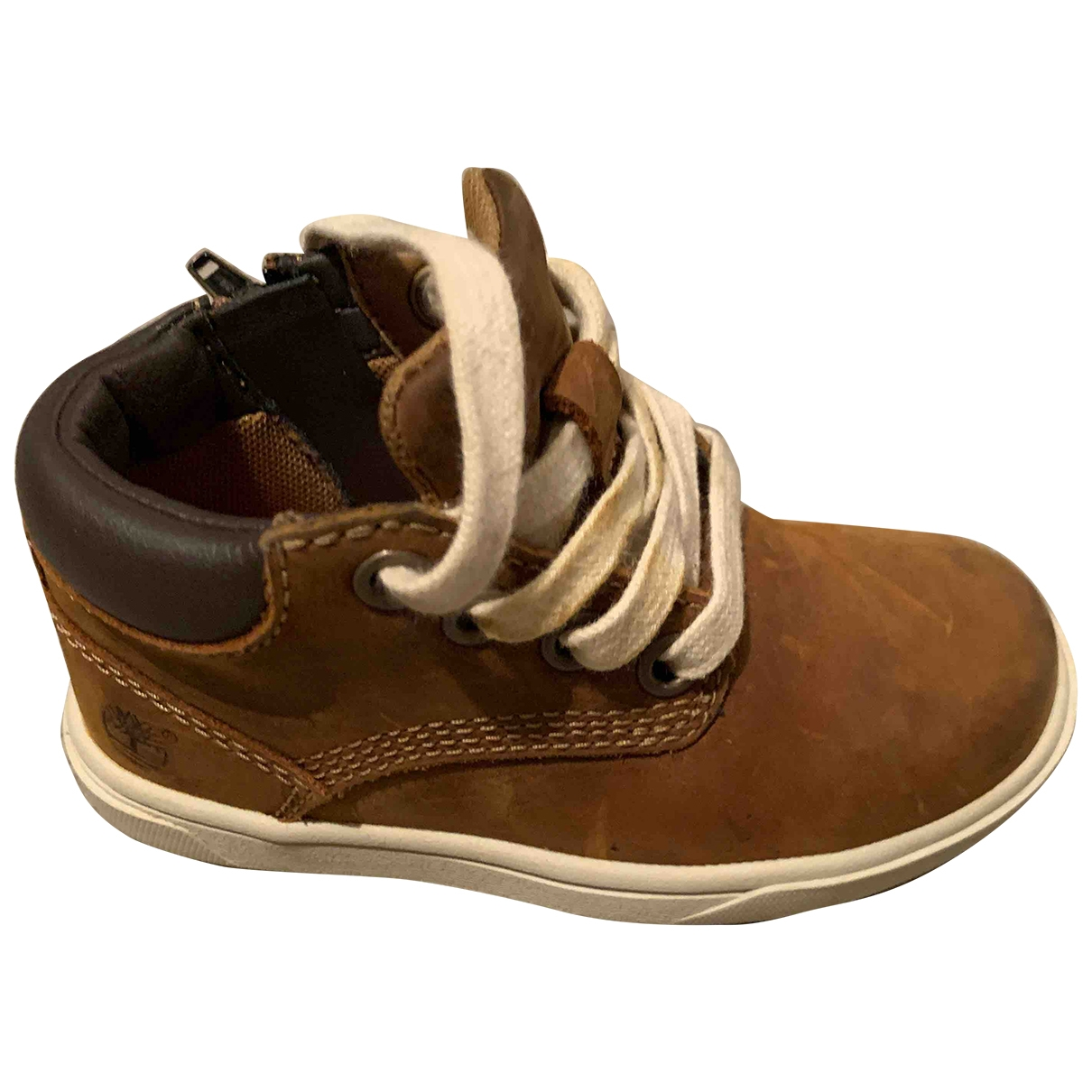 Timberland \N Brown Leather Boots for Kids 23 EU