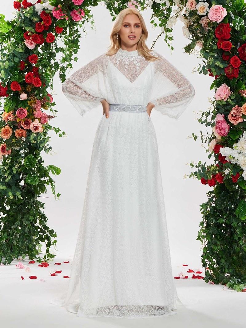 Ericdress Lace Long Sleeves Vintage Wedding Dress