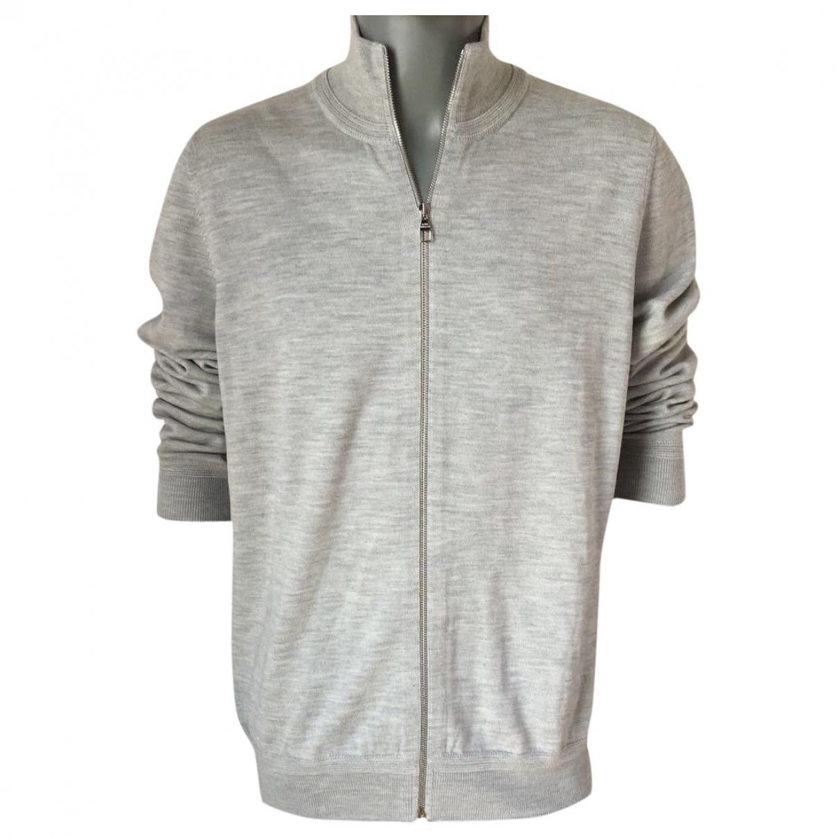 Louis Vuitton \N Pullover.Westen.Sweatshirts  in  Grau Wolle