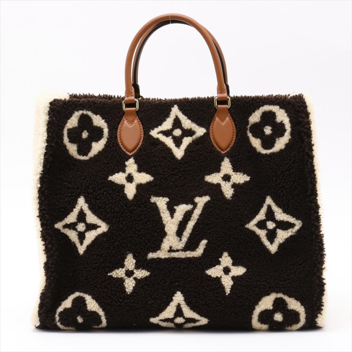 Louis Vuitton Onthego Black Shearling handbag for Women \N
