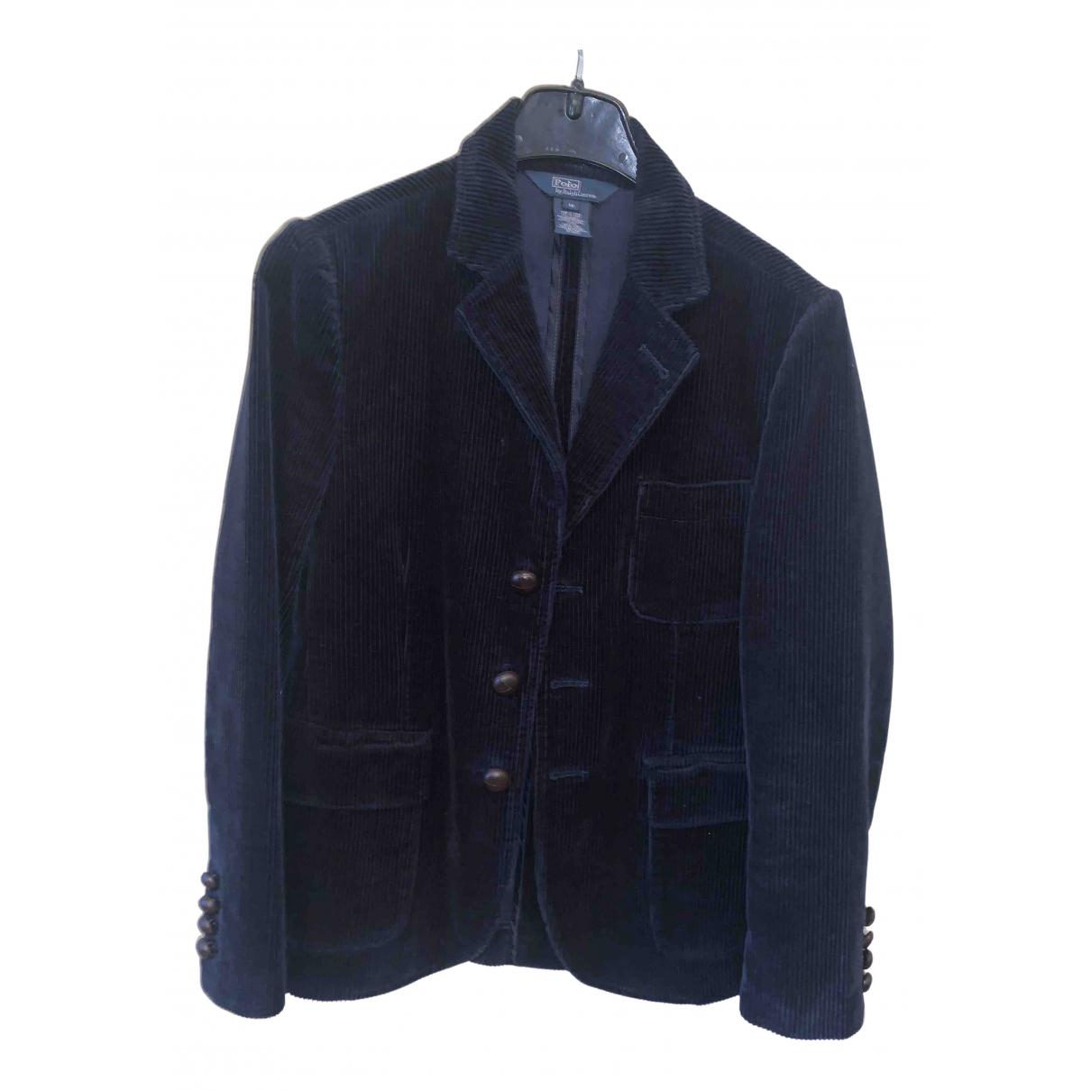 Polo Ralph Lauren \N Jacke, Maentel in  Blau Samt