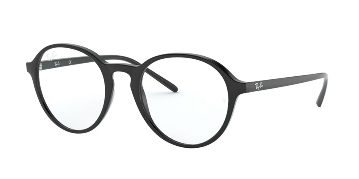 Ray-Ban RX7173F Asian Fit 2000 Men's Glasses Black Size 51 - HSA/FSA Insurance - Blue Light Block Available