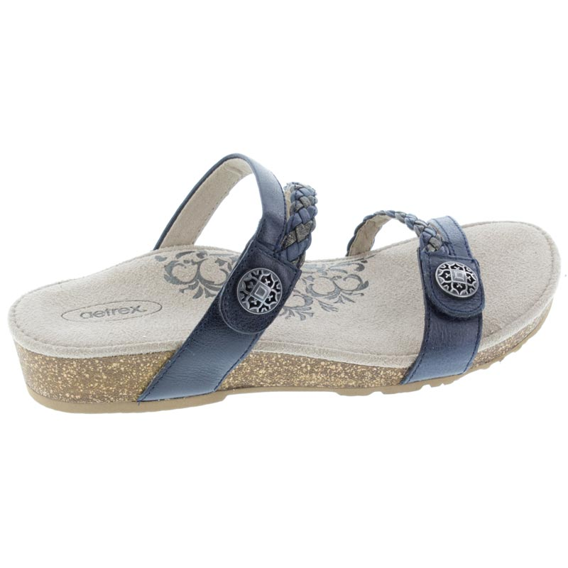 Aetrex Janey Navy Leather 6 M