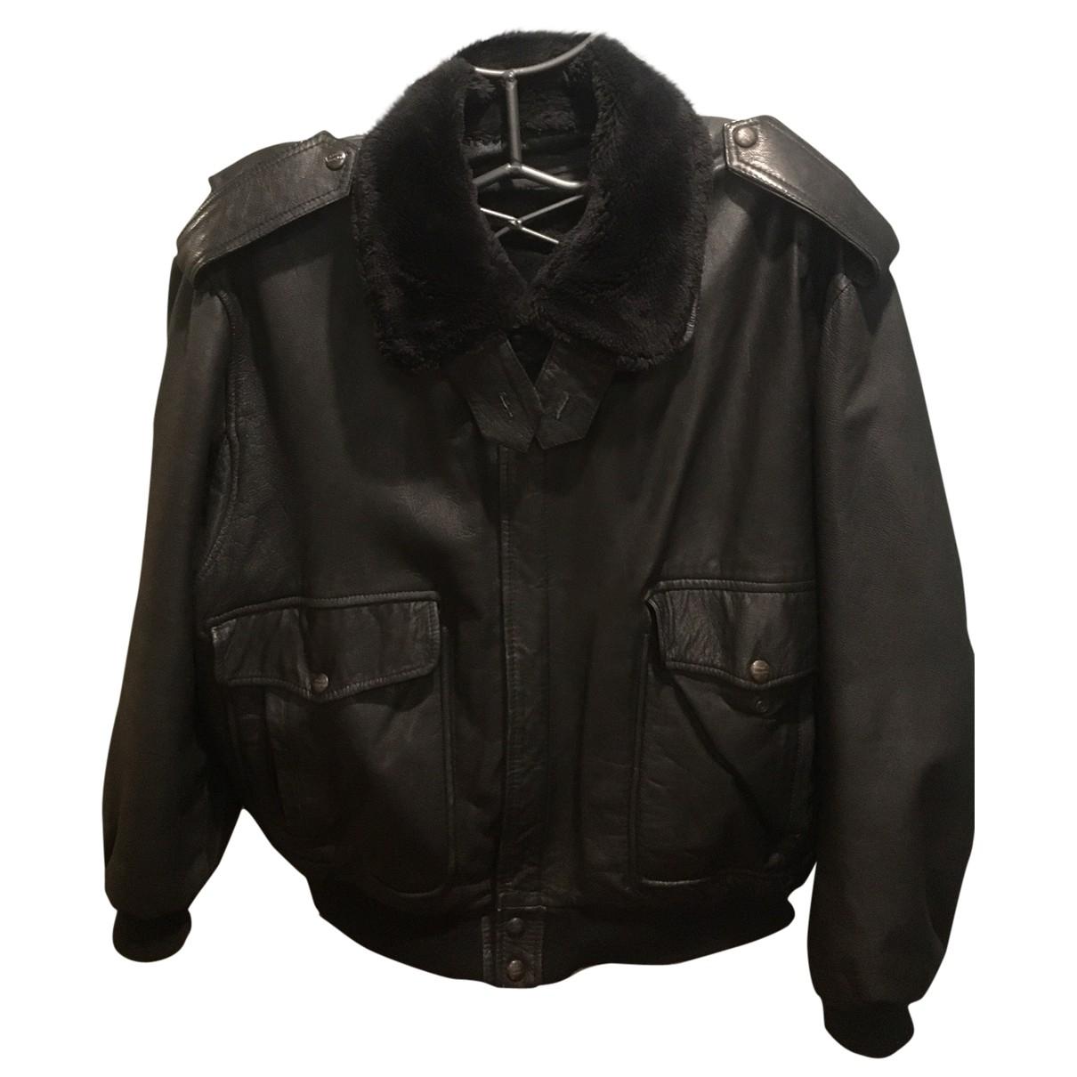 Mac Douglas - Manteau   pour homme en cuir - noir