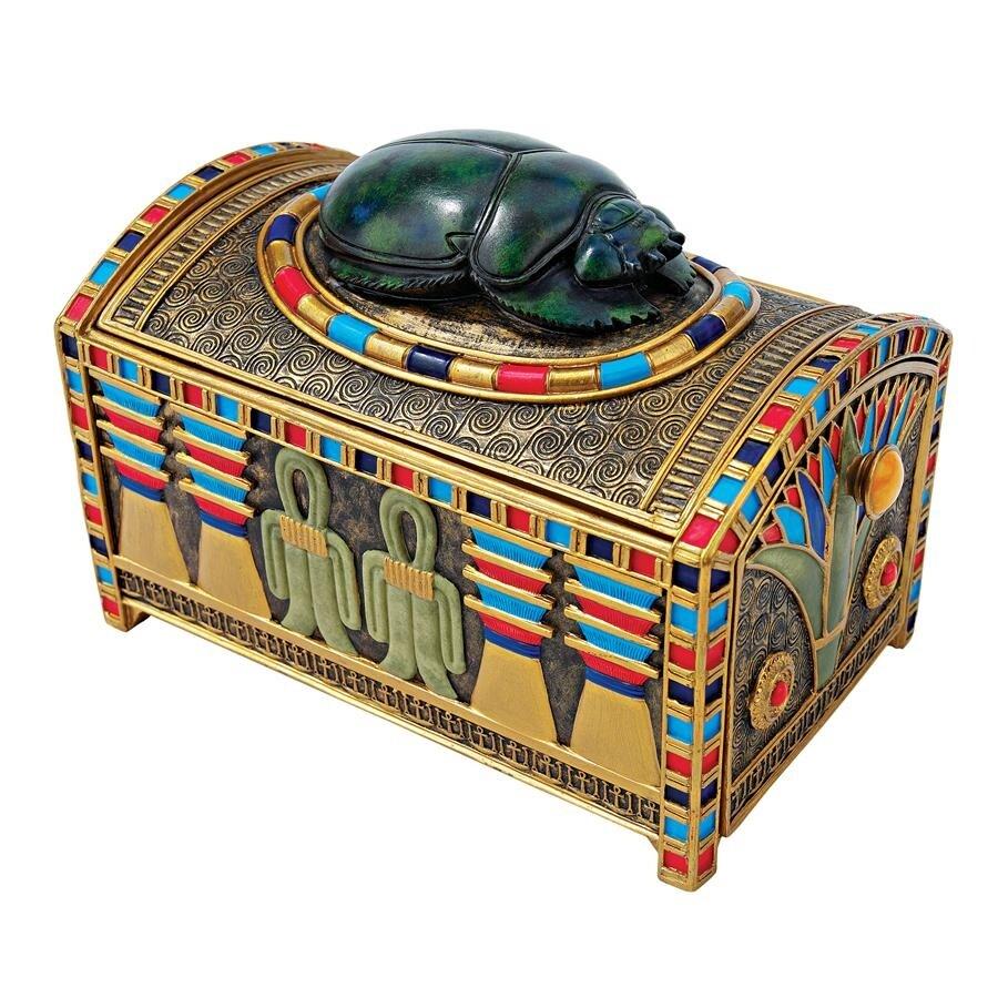 Design Toscano Royal Egyptian Scarab Treasure Box