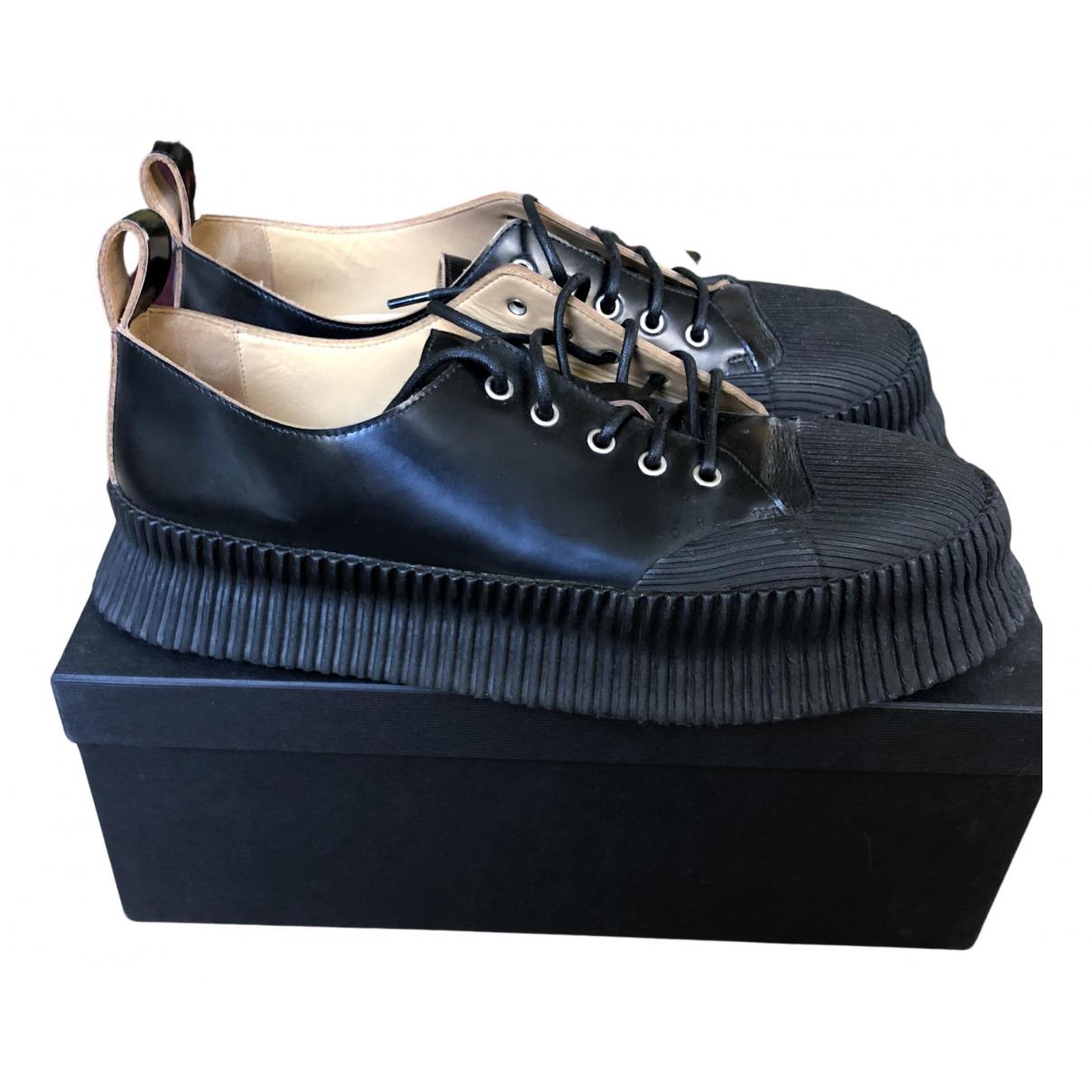 Jil Sander - Derbies   pour homme en cuir - noir