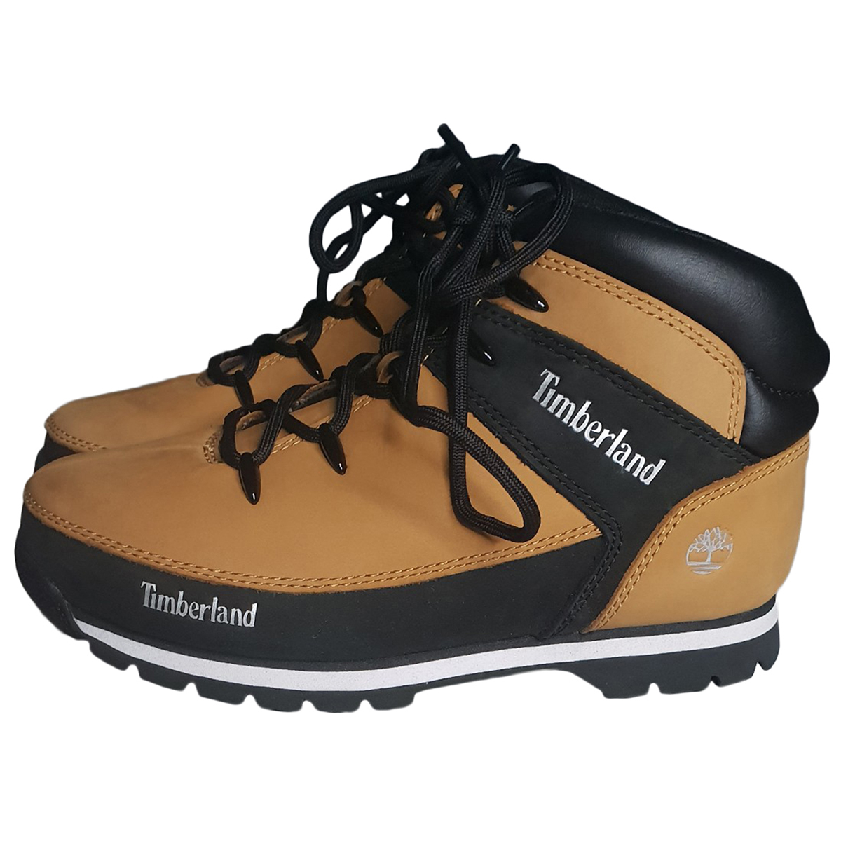 Timberland N Camel Leather Trainers for Kids 38 FR