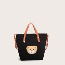 Cartoon Graphic Fluffy Tote Bag