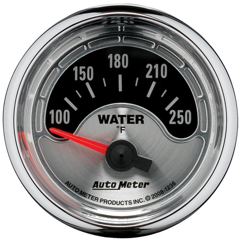 AutoMeter GAUGE; WATER TEMP; 2 1/16in.; 250deg.F; ELEC; AMERICAN MUSCLE