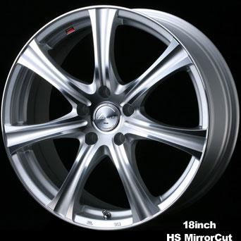 Weds Leonis KH 16X6.0 4X100 HS Mirror Cut Wheel
