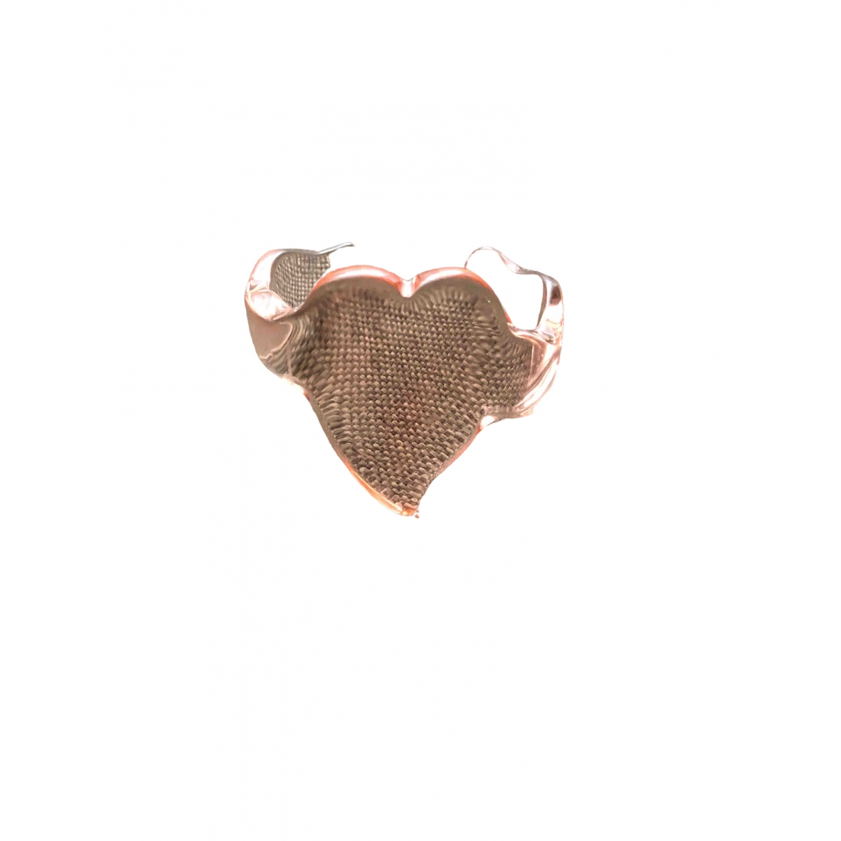 Non Signe / Unsigned Motifs Coeurs Armband in  Rosa Kunststoff