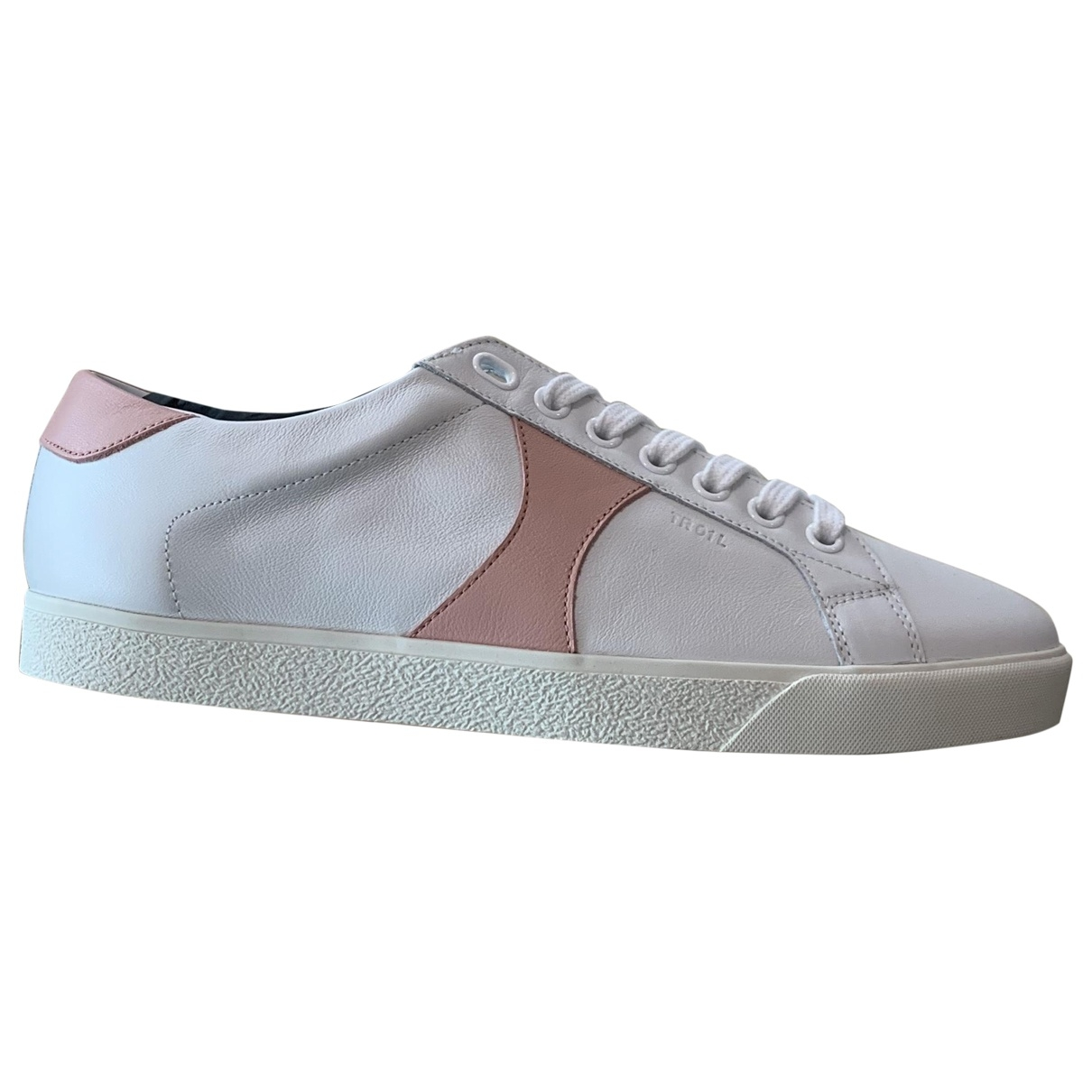 Celine Triomphe White Leather Trainers for Women 38 EU