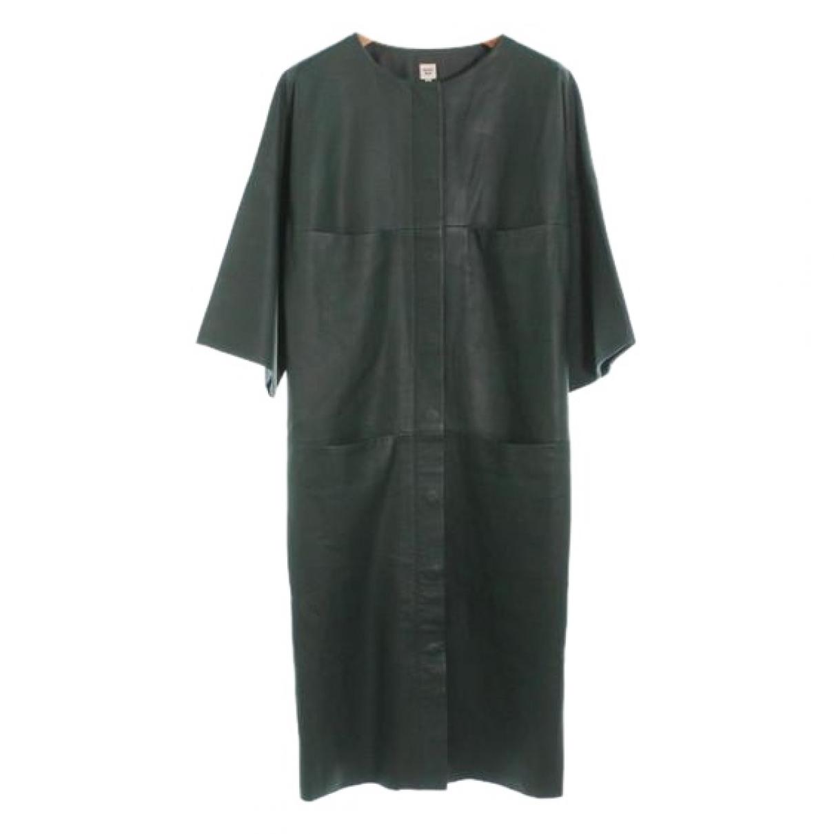 Hermes \N Kleid in  Gruen Leder