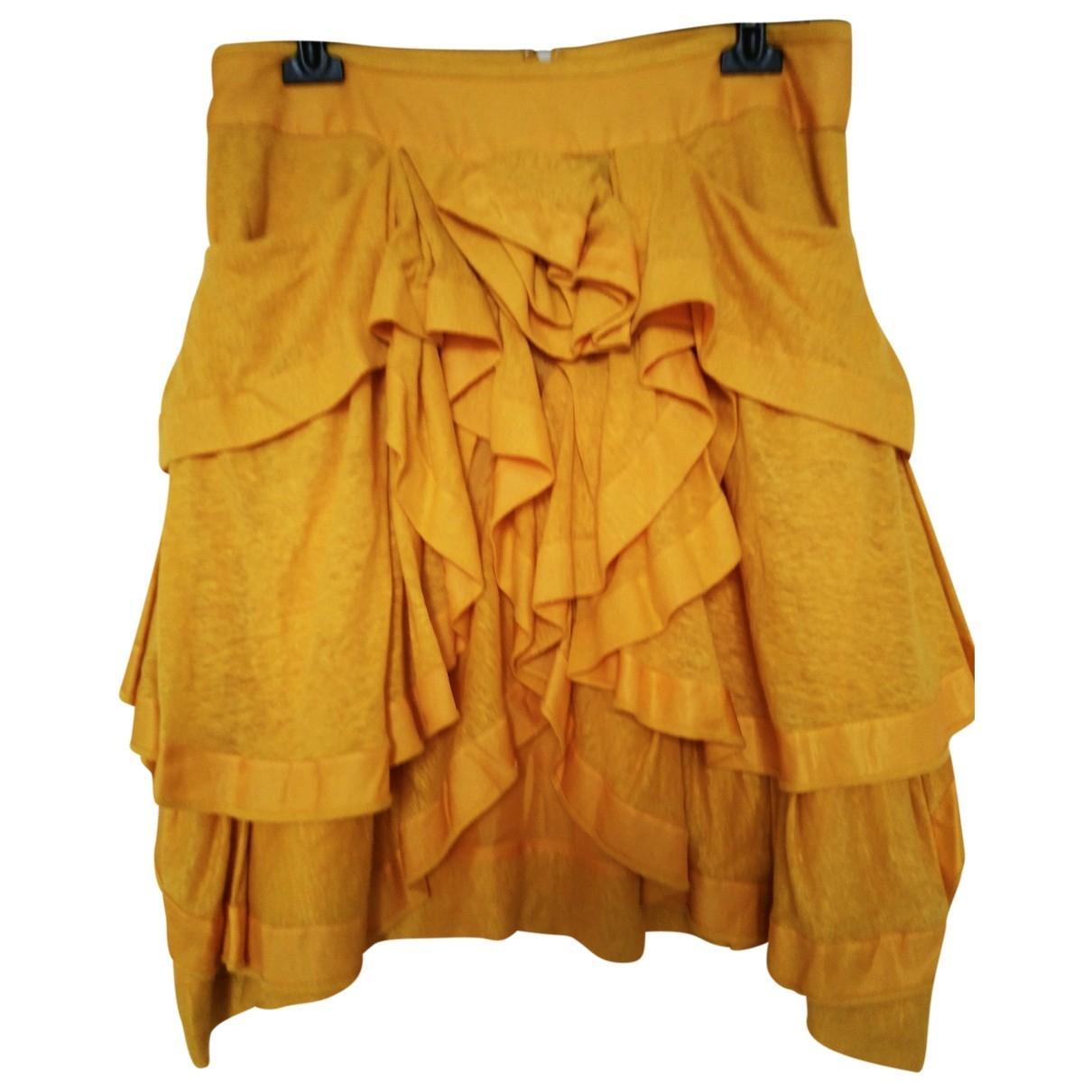 Sonia Rykiel - Jupe   pour femme en soie - jaune