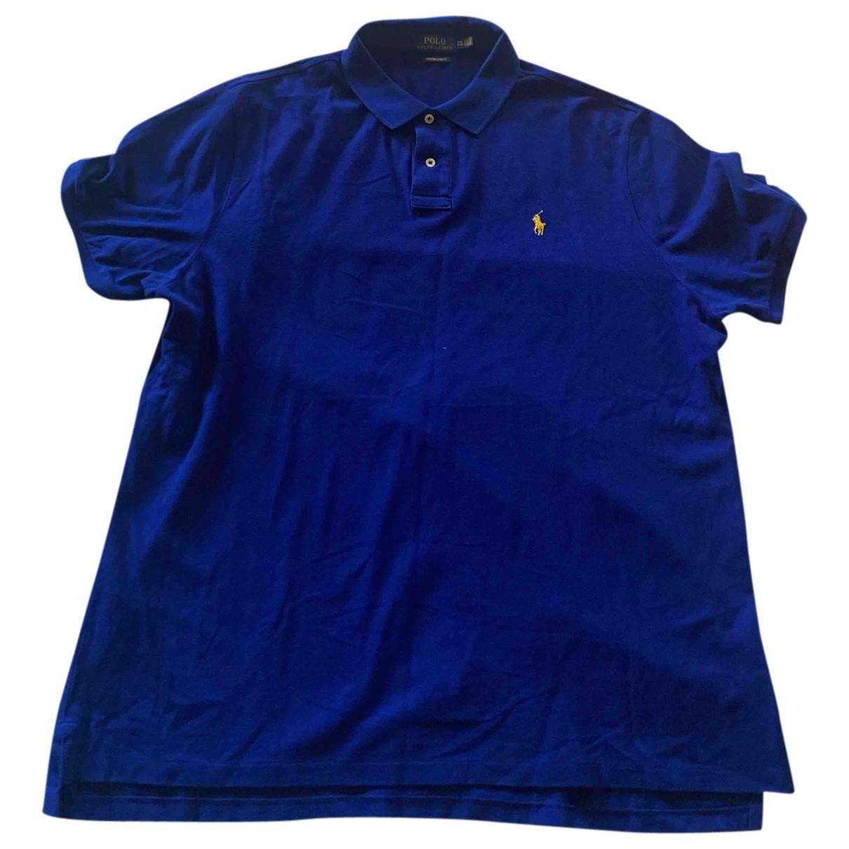 Polo Ralph Lauren \N Blue Cotton Polo shirts for Men XXL International