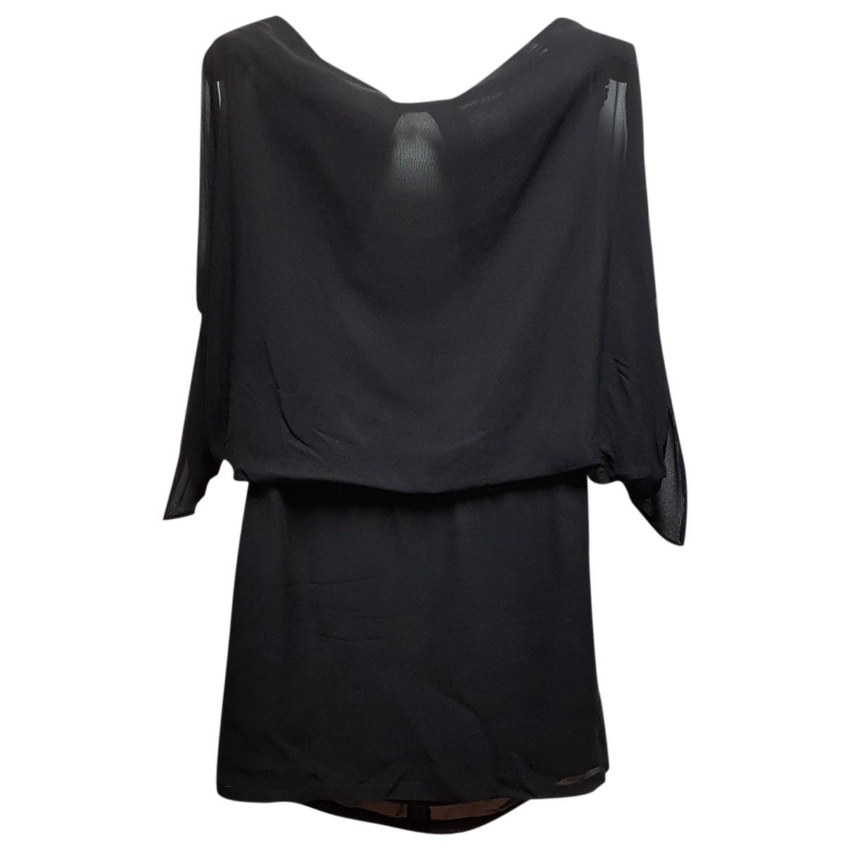 Antik Batik \N Kleid in  Schwarz Seide