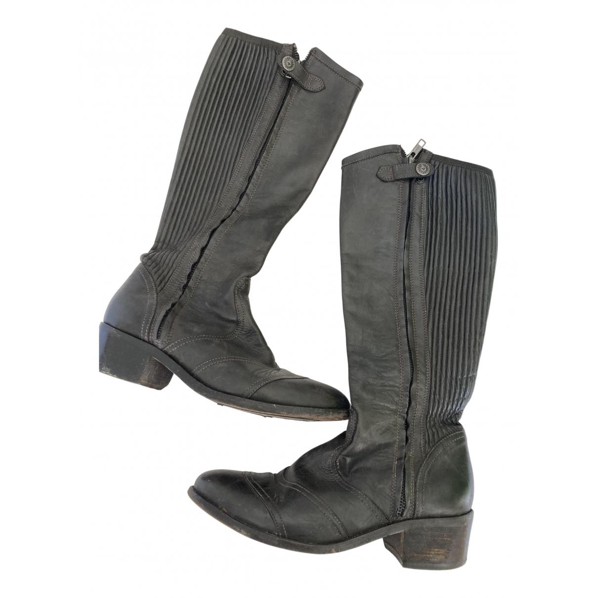 Belstaff N Brown Leather Boots for Women 39 EU