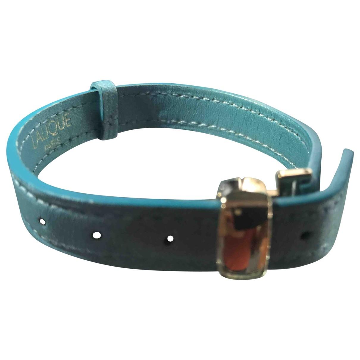 Lalique - Bracelet   pour femme en cuir - turquoise