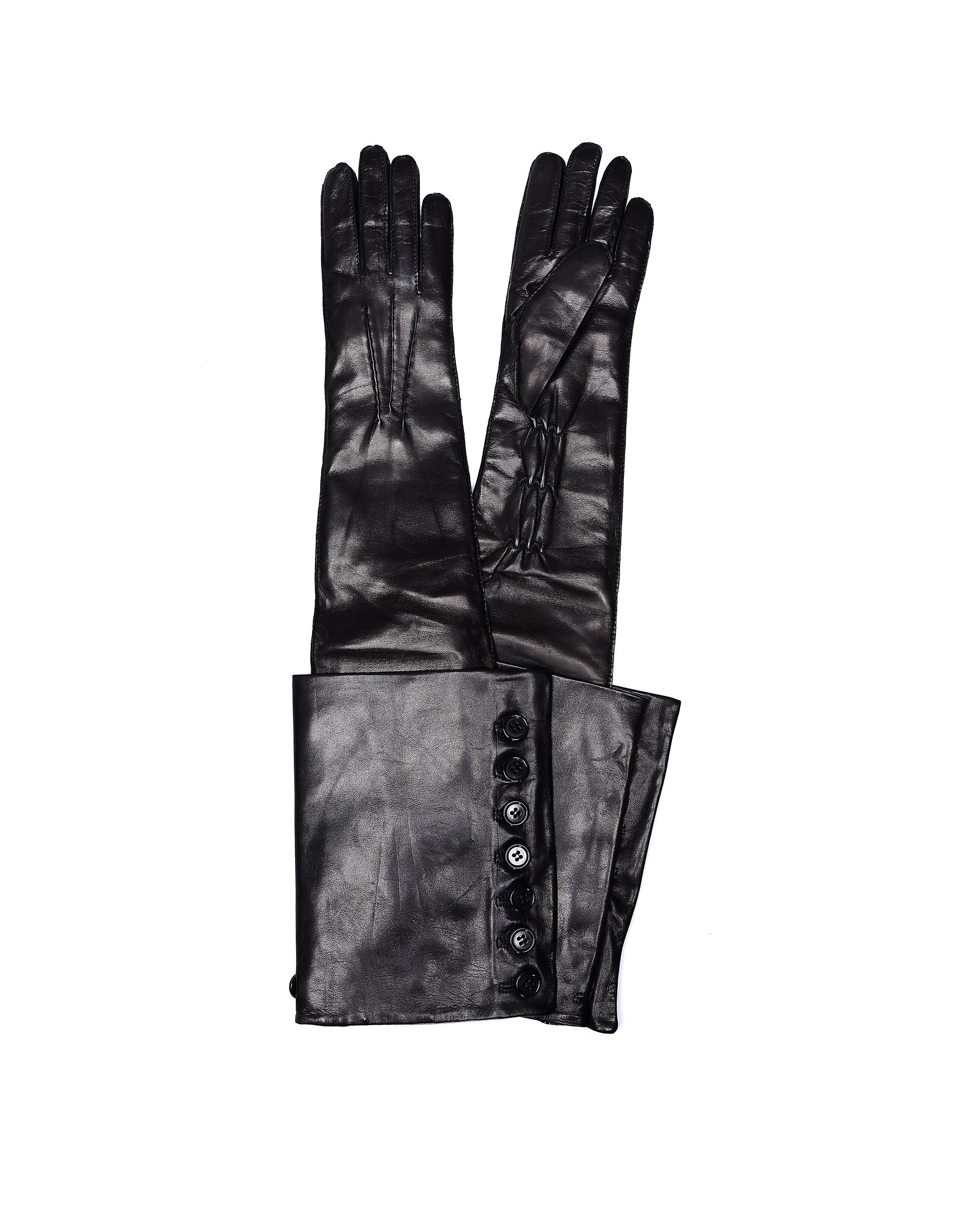 Ann Demeulemeester Joris Black Leather Gloves