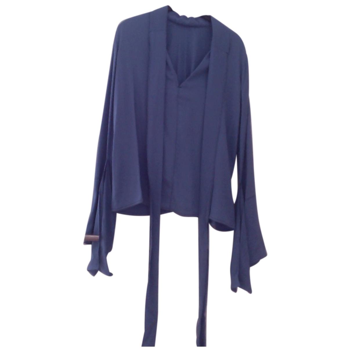 Marni \N Blue Silk  top for Women 42 FR