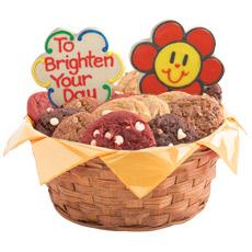 Smiley Face Daisies Gluten Free Cookie Basket