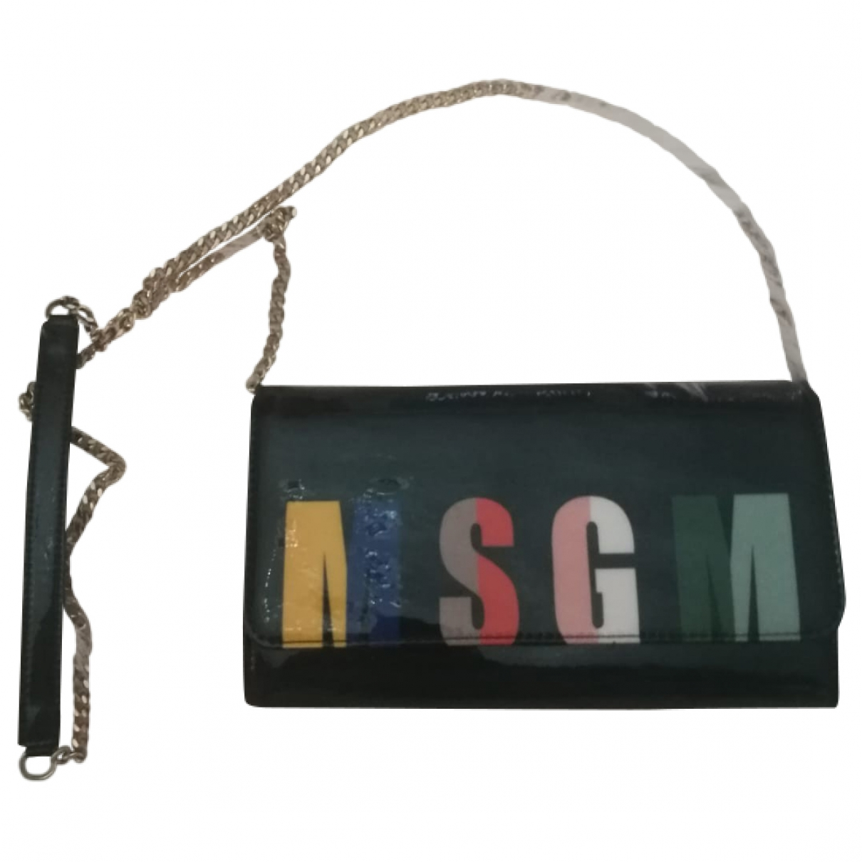 Msgm \N Clutch in  Bunt Leder