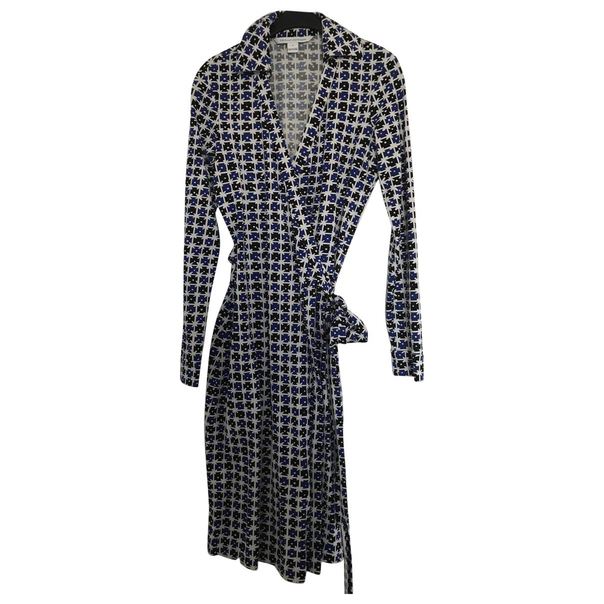 Diane Von Furstenberg - Robe   pour femme en coton - bleu