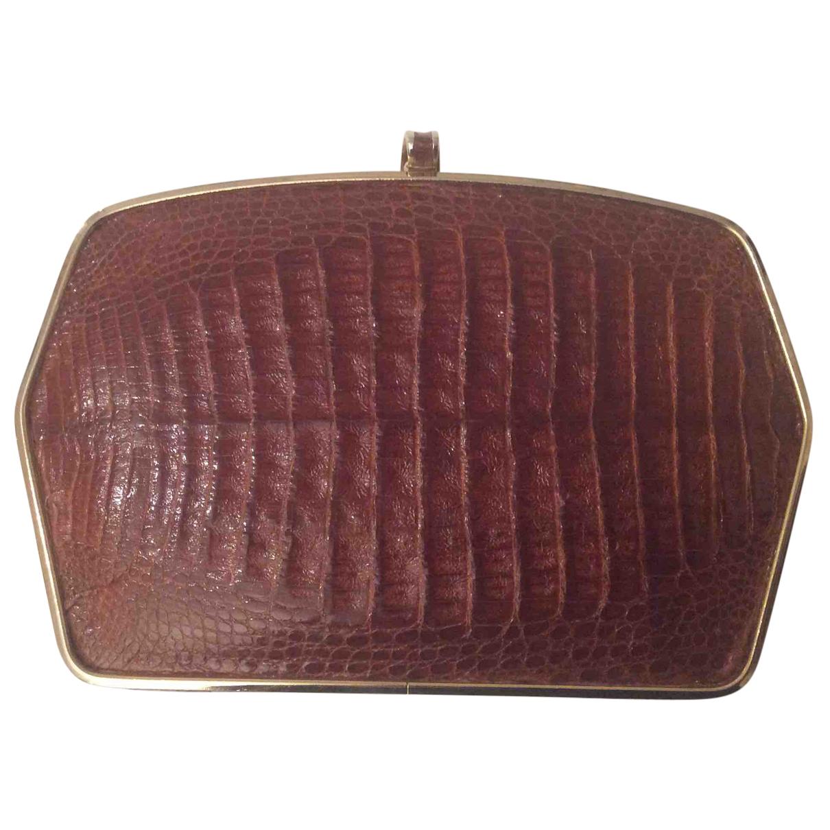 Autre Marque N Camel Crocodile Clutch bag for Women N