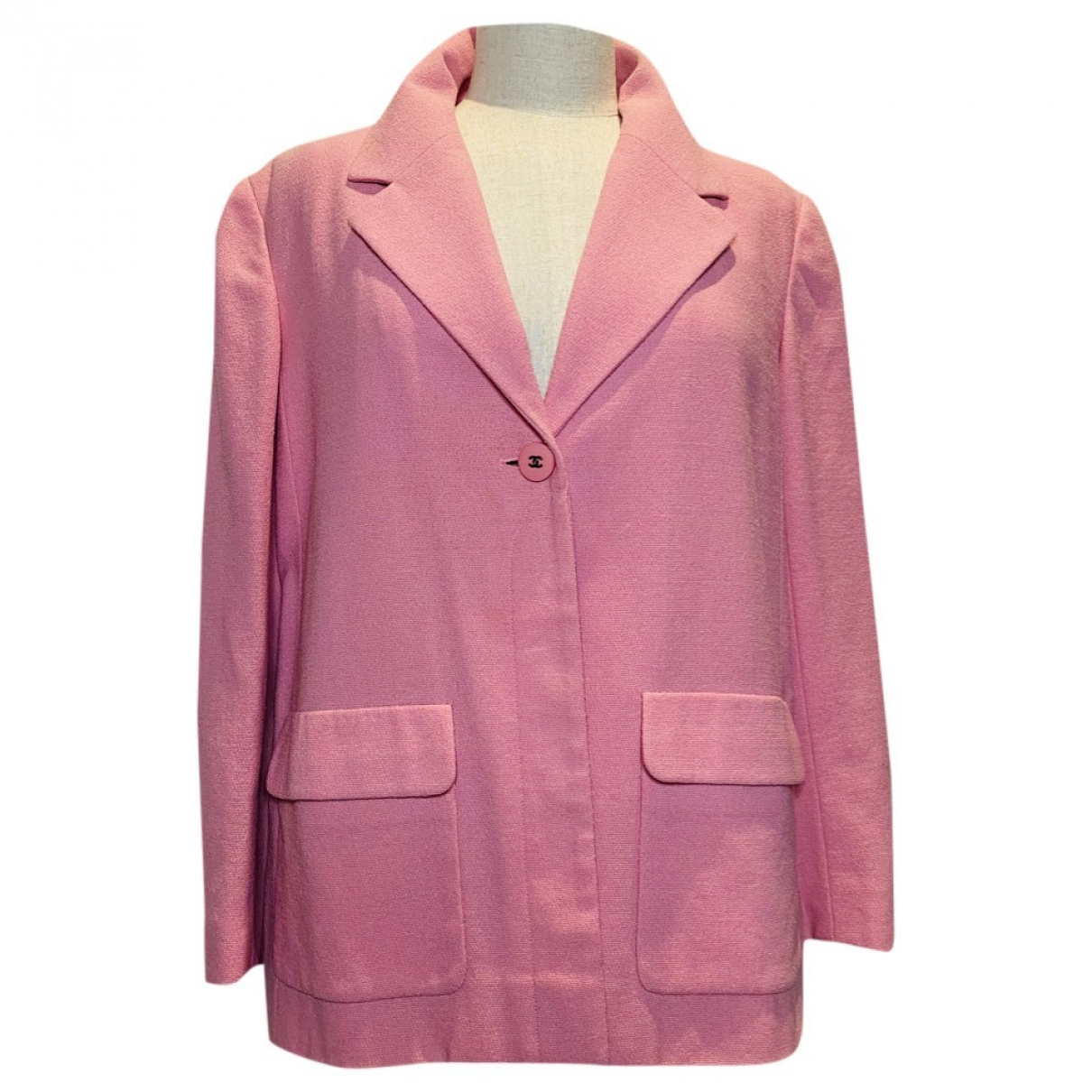Chanel \N Jacke in  Rosa Wolle