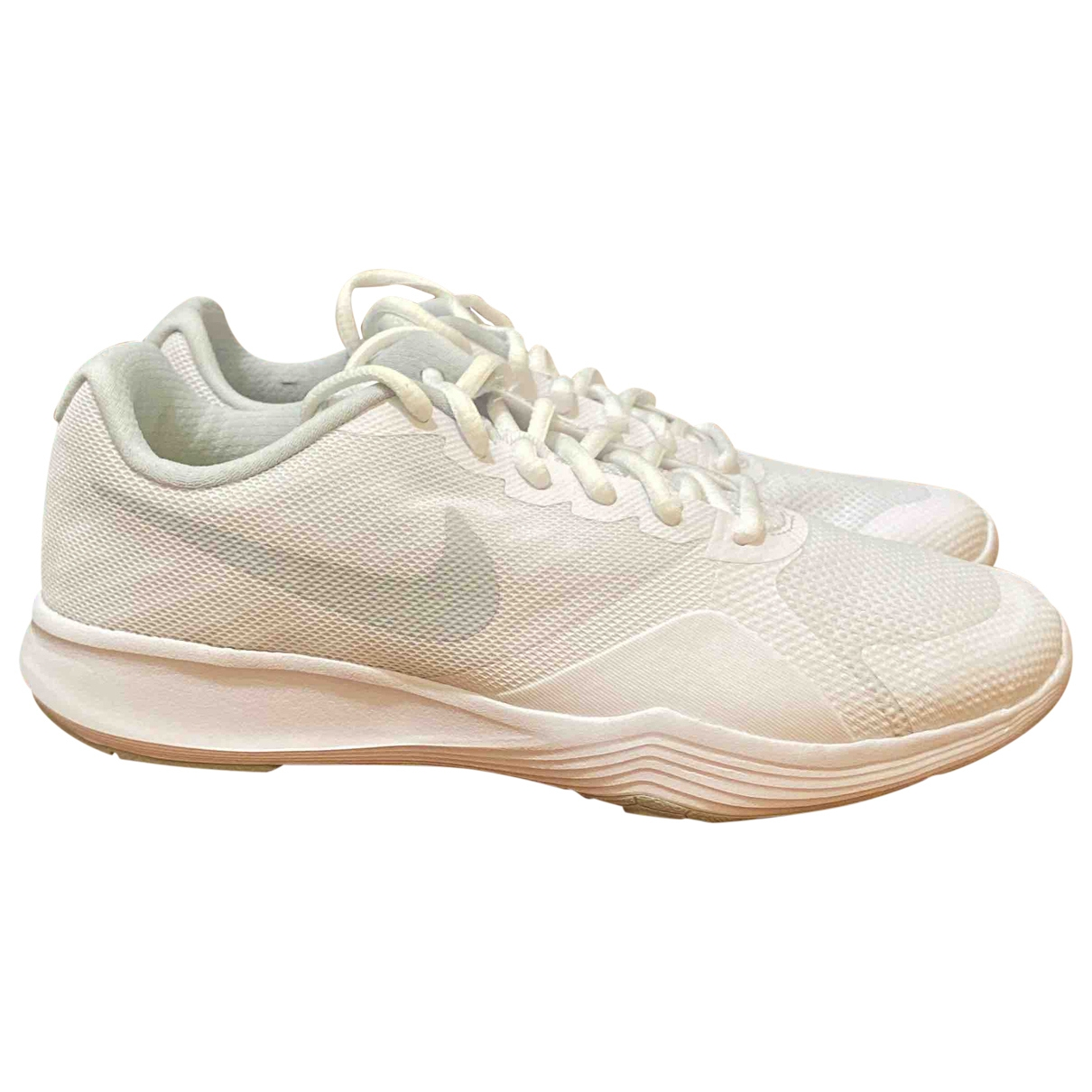 Nike \N White Cloth Trainers for Women 38 EU